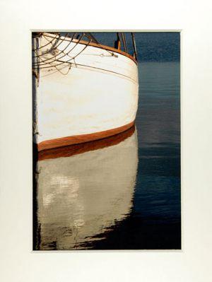 Hans Michael Larsen Træskib i vandspejl
