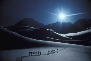 "Mogens Johansen Falster Fotoklub ""Ski vandring"" Sølv + dommerdipl. Michael Rønsdorf"