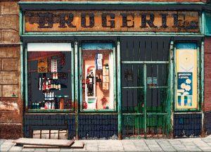 """Erik Jørgensen Negativ Roskilde """"Theresienstadt 1989"""" (serie, 6 af 6) Guld (eksp.)"""